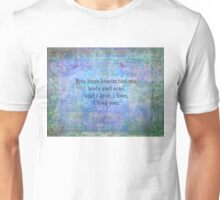 Jane Austen romantic quote Mr. Darcy Unisex T-Shirt
