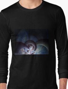Industrial I - Abstract Fractal Artwork Long Sleeve T-Shirt