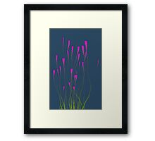 Floral Pink Waves Framed Print