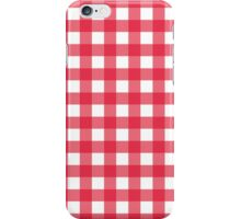 Red Gingham - large iPhone Case/Skin