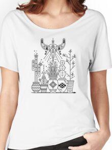 Santa Fe Garden – Black Ink Women's Relaxed Fit T-Shirt