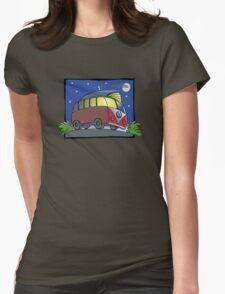 VW Camper Van - night Womens Fitted T-Shirt