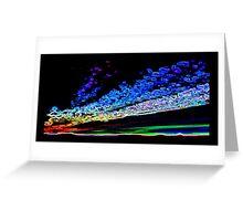 Neon Sunset Greeting Card