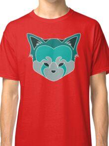 Cute Panda Head Logo T-Shirt Blue Lined Classic T-Shirt