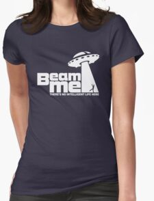 Beam me up V.2.2 (white) Womens Fitted T-Shirt