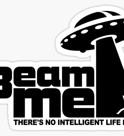 Beam me up V.2.2 (white) Sticker