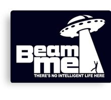 Beam me up V.2.2 (white) Canvas Print