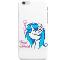 Vinyl Scratch (w/ smoke) iPhone Case/Skin