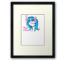 Vinyl Scratch (w/ smoke) Framed Print