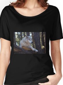Timber Wolf Sentinel Women's Relaxed Fit T-Shirt