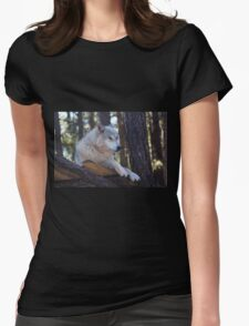 Timber Wolf Sentinel Womens Fitted T-Shirt