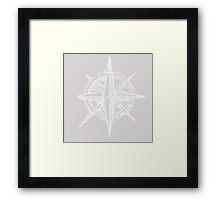 Compass sketch Framed Print