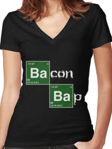 Bacon Bap Women's Fitted V-Neck T-Shirt