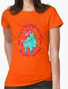 Feminist Pony Womens Fitted T-Shirt