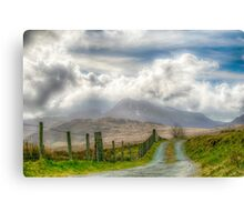 The mountain track Canvas Print