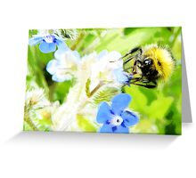 Bumble Bee water colour painting Greeting Card