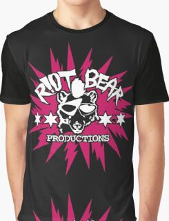 Riot Bear Productions pink and black  Graphic T-Shirt