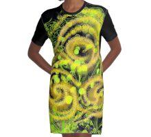Sun Sparkles Graphic T-Shirt Dress