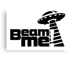 Beam me up V.3.1 (black) Canvas Print