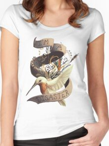 I'm a disaster Women's Fitted Scoop T-Shirt