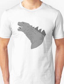 godzilla grey scale T-Shirt