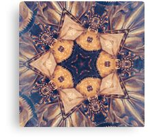 Vintage Gold Star Abstract Canvas Print