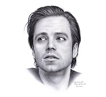 Sebastian Stan portrait Photographic Print