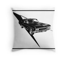 Vintage car, chevrolet Impala, muscle car Throw Pillow
