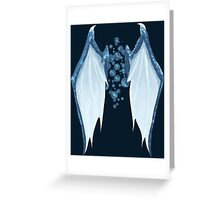 Blue dragon wings Greeting Card