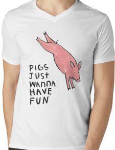 Pigs Just Wanna Have Fun #2 Mens V-Neck T-Shirt