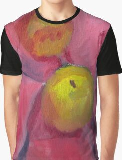 Pink Lady Apple Green Graphic T-Shirt