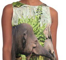 Jungle Elephants Contrast Tank
