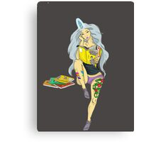 Nerdy Girl Canvas Print