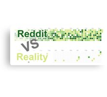 Reddit VS Reality Canvas Print