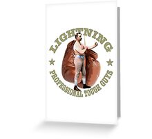 LIGHTNING PROFESSIONAL TOUGH GUYS DESIGN  Greeting Card