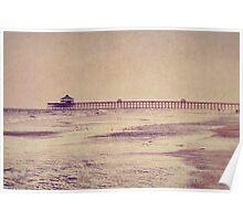 Folly Beach at Dusk: Charleston, SC Poster