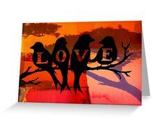 Love Birds...By Curt Vinson  Greeting Card