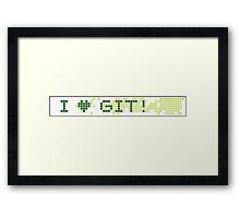 I (L) GIT  Framed Print