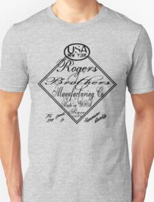 usa new york caligraphy by rogers bros T-Shirt
