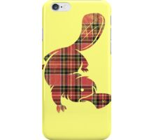 plaidypus  iPhone Case/Skin