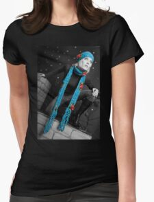 Moon Night Womens Fitted T-Shirt