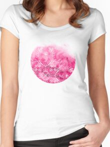 Pink + Patterns Women's Fitted Scoop T-Shirt