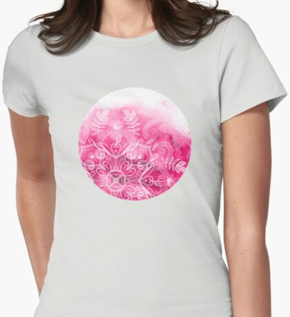 Pink + Patterns Womens Fitted T-Shirt