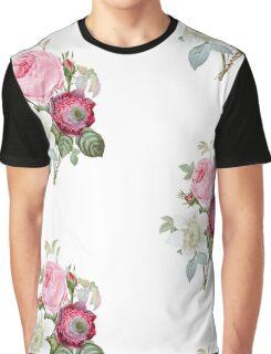 Rose Floral Botanical Graphic T-Shirt