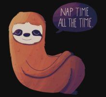 Nap Time, All The Time One Piece - Long Sleeve