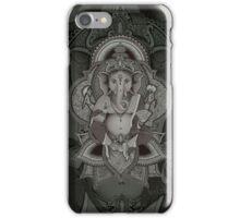 Ganesha2 - black iPhone Case/Skin
