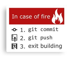 Git on Fire Canvas Print