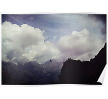 Clouds over Mountains Poster