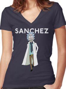 Rick Sanchez  Women's Fitted V-Neck T-Shirt