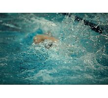 bubbling water of a swimming pool Photographic Print